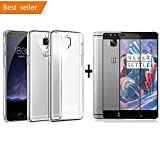 shoppingmonk [Combo Offer] Ultra Thin Transparent Exclusive Soft Back Cover For Oneplus 3 / Oneplus 3T + Original One Plus 3T / One Plus 3 Tempered Glass 3D Curved Surface Full Screen Cover Explosion-proof Screen protector for OnePlus 3T - Black Amazon Rs. 299