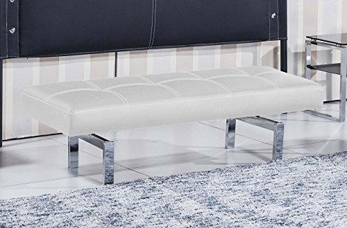 Banco tapizado dormitorio modelo BENCH color blanco