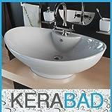 Waschbecken KBW005 Keramik Waschtisch Waschschale Aufsatzwaschbecken