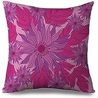 huangxing floreale federa crisantemo Tela federa casa decorativo cuscino sham per divano quadrato Accent cuscino con zip, cuscino Cover Custodia con cerniera