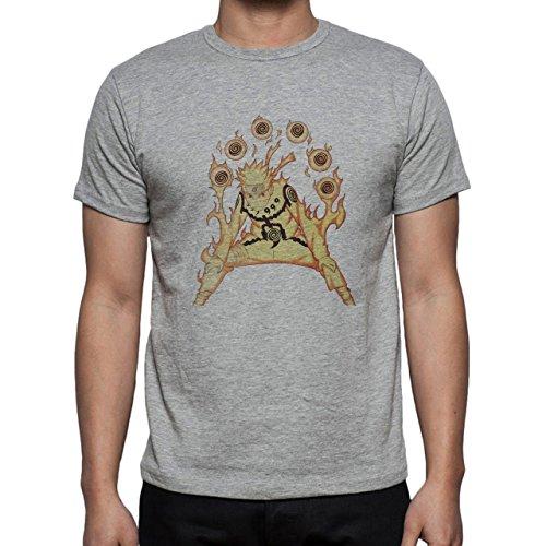 Naruto Akra Mode Fire Edition Herren T-Shirt Grau