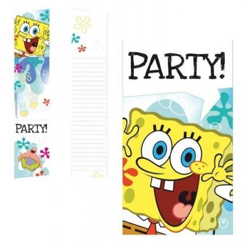 Spongebob Schwammkopf Geburtstag Party Einladungen & Umschläge x 6