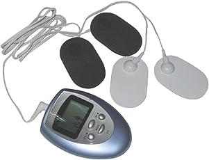 SUPVOX Digital Tens Gerät EMS Massagegerät mit Elektrodenpads Elektrische Muskelstimulator Muskel Elektrostimulator Therapie Reizstromgerät für Schmerzlinderung und Entspannung (Keine Batterie)