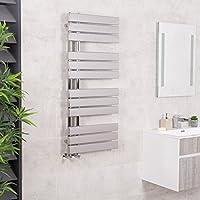 Sèche-serviettes radiateur plat design eau chaude 472 Watts 1124 x 500 Chrome - Salle de bains
