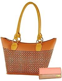 Goldmine Women's Shoulder Bag And Clutch (6 Card Slots) Combo Multi Color