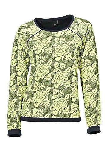 Sweatshirt, gelb-anthrazit von H**** - Best Connections Grösse 42