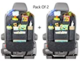 #10: 2 Pcs Cairo Seat Back Multi Pocket Organizer and iPad Mini Holder (Greyish Black)