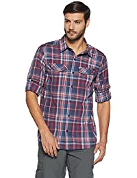 Columbia Men's Checkered Regular Fit Nylon Casual Shirt