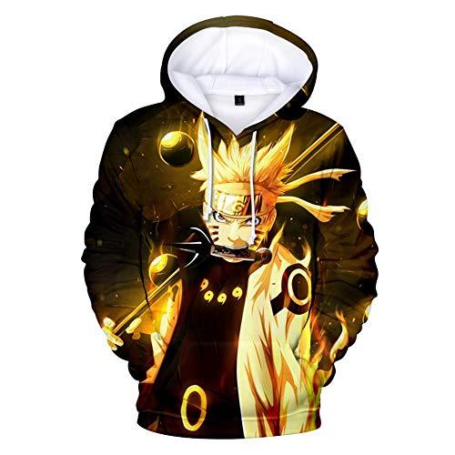 NJunicorn Uncle Naruto Kapuzenpullover Hokage Unisex Hoodie 3D Carton Pulli Casual Langarm Pullover Anime Pulli Outwear (J, S) -