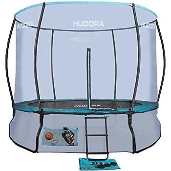 hudora trampolin mit sicherheitsnetz 366 cm schwarz blau 3 kartons art 65560. Black Bedroom Furniture Sets. Home Design Ideas