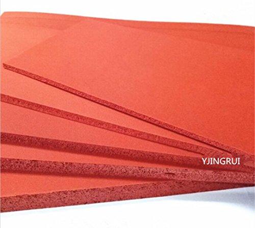 500x 500x 2mm Top Qualität Silikon Schwamm Tabelle 500mm Breite 2mm Dicke geschlossen Zelle Schaumstoff Silikon Rot Farbe