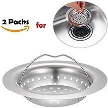 """Fregadero de Cocina Colador, 2paquetes PChero 11cm/4.33""""de diámetro exterior de acero inoxidable colador de cocina"""