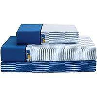 Sabanalia - Juego de sábanas estampadas Mota (disponible en varios tamaños y colores), cama 90, azul