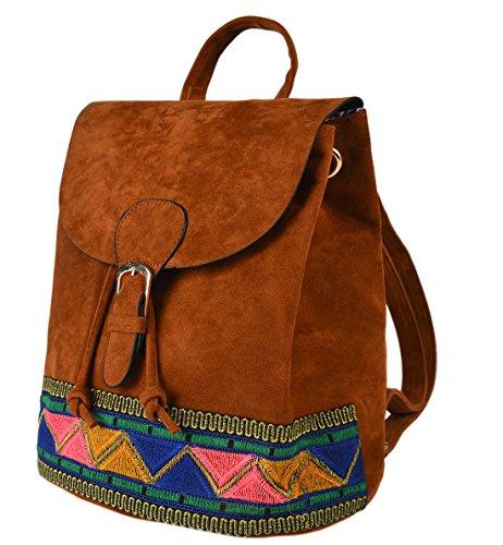 Mochila étnica marrón tribal