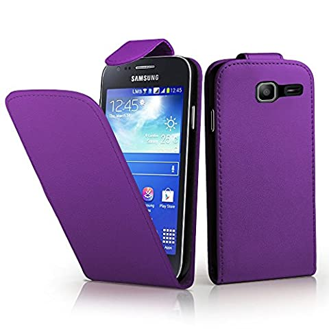 Samsung Galaxy Trend Lite S7390 Housse HCN PHONE® ULTRA FIN Etui Cuir PU à petit rabat vertical pour Samsung Galaxy Trend Lite S7390 - VIOLET