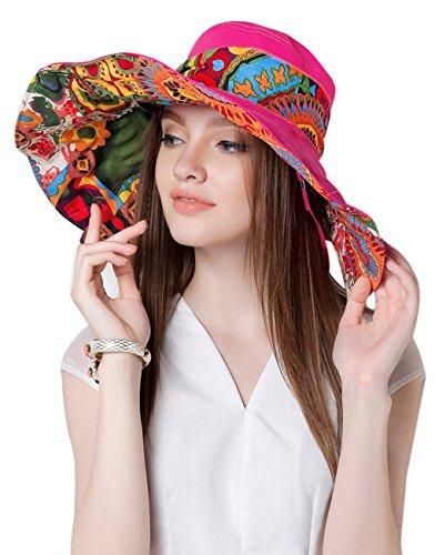 Donna Moda per tesa, grande, protezione dai raggi UV, Cappello da sole estivo leggero pieghevole da spiaggia Traveler-Cappello protezione solare 50