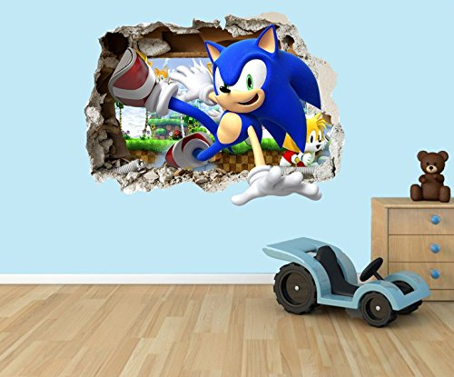 sonic-the-hedgehog-3d-effect-smashed-hole-in-wall-vinyl-sticker-suitable-for-kids-bedroom-walls-door