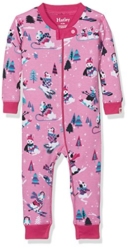 100% Organic Cotton Waffle Sleepsuits Schlafstrampler, Pink (Winter Sports Bunnies 650), 3-6 Monate ()