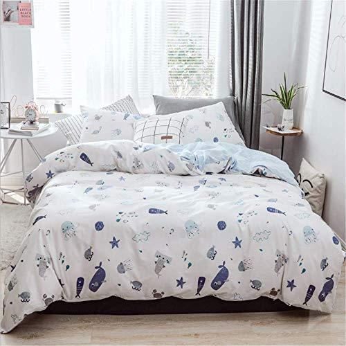 SHJIA Bettdecke American Style Weiche Bettbezug Sets Flache Bettdecke Twin Bettwäsche Set G 229x229cm (Monster High Kaufen Sie)