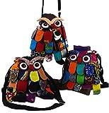 Guru-Shop Eulentasche, Eulenbeutel, Herren/Damen, Mehrfarbig, Baumwolle, Size:One Size, 30x25 cm, Alternative Umhängetasche, Handtasche aus Stoff