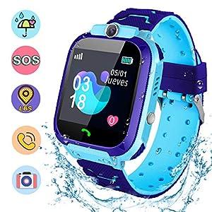 NAIXUES Smartwatch Niños, Reloj Inteligente Niño IP67, LBS, Hacer Llamada,
