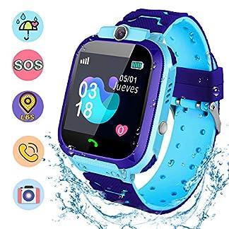 NAIXUES Smartwatch Niños, Reloj Inteligente Niña IP67, LBS, Hacer Llamada, Chat de Voz, SOS, Modo de Clase, Cámara, Juegos, Regalo para Niños de 3-12 años, soporta 2G Tarjetas Micro SIM