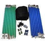 Trampolin Fangnetz KOMPLETT mit Netz und Pfosten 420-427-430 cm - 2