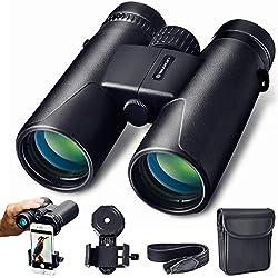 Prismáticos 10x42 Slokey – Binoculares Profesionales y Potentes con Gran Alcance. Ligeros e Impermeables, Prismas BaK4 y FMC. Ideales para Observación de Aves, Caza, Senderismo, Astronomía y Camping