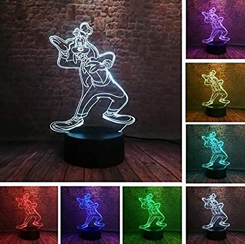 FSKJXYD 3D Art Peace Zeichen Form Nachtlichter Für 7 Farben Ändern Led Beleuchtung Büro Dekor Usb Tischlampe (Und Lichter Peace Zeichen)