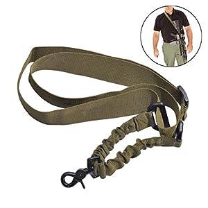 Matata réglable 1point tactique Fusil Slings avec clip pivotant en acier pour la chasse Sling Sangle Crochet