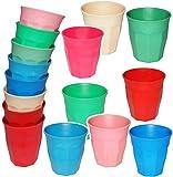 5 Stück _ BAMBUS _ Trinkbecher / Becher - ' Waffeloptik -bunte Farben ' - 280 ml - aus Bambusfasern - Tasse - auch als Zahnputzbecher / Malbecher - Kinder & Erwachsene - Bambusbecher - Kindertasse / Kinderbecher - Partybecher - Trinklerntasse / Trinkglas / Bambusgeschirr - Kindergeschirr - Jungen & Mädchen - Campinggeschirr - Mehrwegbecher - Kindergeschirr / Retro Design Vintage - Campingbecher / Plastikgeschirr mehrweg Camping Set / Plastikbecher - Kunststoffbecher bunt - Geschirr