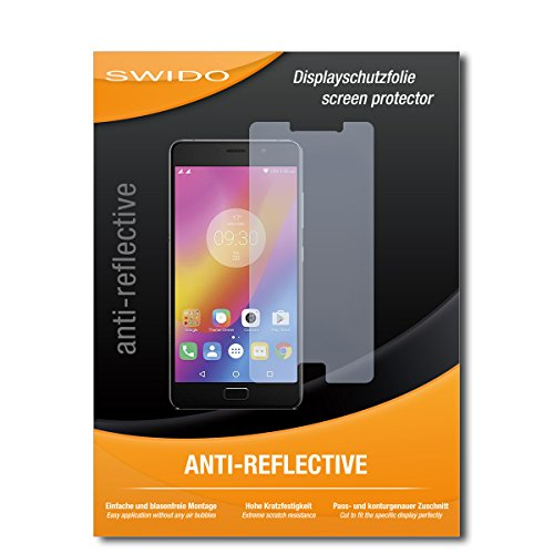 SWIDO Bildschirmschutz für Lenovo P2 [4 Stück] Anti-Reflex MATT Entspiegelnd, Hoher Härtegrad, Schutz vor Kratzer/Glasfolie, Schutzfolie, Bildschirmschutzfolie, Panzerglas Folie