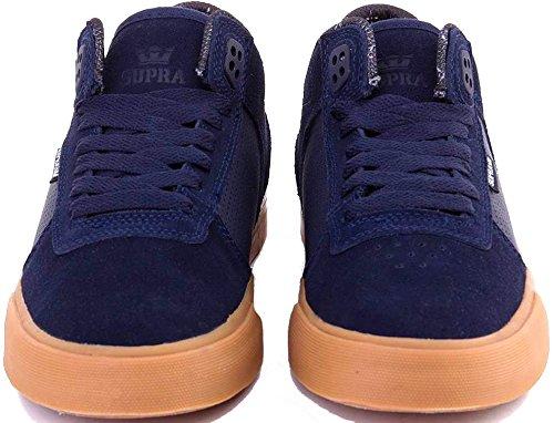 Scarpe Uomo Nero Navy Gum Supra Ellington Vulc Sneakers Men Shoes S27502-44