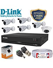 D-Link 8 Channel CCTV KIT 1MP 5PCS Bullet 1PCS Dome with Al