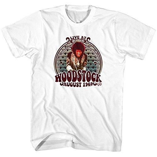 Jimi Hendrix - Männer Jimi wirbelt T-Shirt White