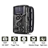 Suntek Camera de Chasse 16MP 1080P Trail Camera avec 42 Infrarouges de 940nm LED Vision Nocturne Infrarouge 65pieds Temps de déclenchement 0.3S Angle de dét 120 Degrés Vision Nocturne IP65 Étanche