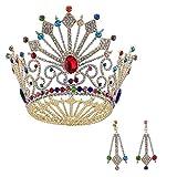 auvwxyz Diadème Nuptiale Couronne Full Diamond Fashion Alliage Coiffure Accessoires Deux Pièces, Modèles F...