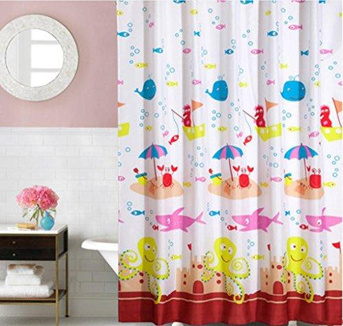 GYMNLJY fibra di poliestere impermeabile muffa Spesso Doccia Tenda doccia Bagno Decorazione Bagno Doccia cortina lavabile , 240*200cm