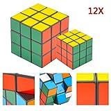 JUEYAN 12X Zauberwürfel Speedcube Rubiks Würfel Raum Rubik's Cube 5,5 x 5,5 x 5,5 cm für Speed-Cubing