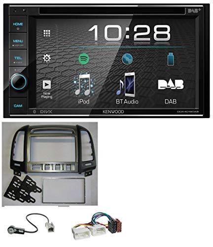caraudio24 Kenwood DDX4019DAB USB DVD DAB MP3 Bluetooth 2DIN Autoradio für Hyundai Santa Fe 4 Schalter ab 11