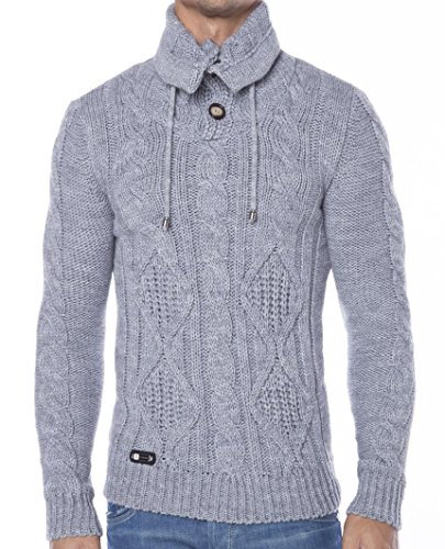 Redbridge Herren Strickpullover Pullover in 3 Farben Grey