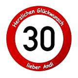 Geburtstagsschild als Verkehrsschild - Geburtstagsgeschenk für sie & ihn (20 cm)