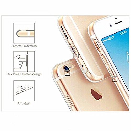 Coque pour iPhone SE/5/5S MUTOUREN haute qualité Soft TPU gel phone case Anti-choc Housse Etui 360 degrés Protection Anti Rayure phone Case Nouveau style- Rouge noir licorne et d'eau