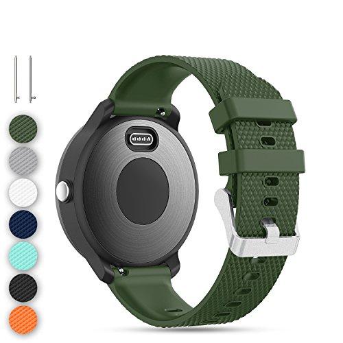 Feskio Accessory 20mm Ersatz Soft Silikon Sport Schnellspanner Armband Armband für Garmin Vivoactive 3/Vivomove/Vivomove HR/Samsung Gear S2 Classic R732/Gear Sport R600 Smartwatch