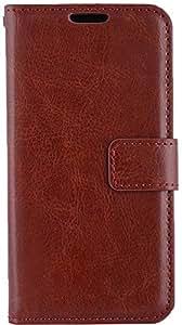 SBM Retail Premium Wallet PU Leather Flip Cover Case For Nokia Lumia N630 (Brown)