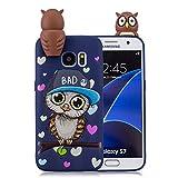 Tifightgo Custodia Compatibile con Samsung Galaxy S7 Cover in Silicone Animale Carino Bambole 3D Custodia di Protezione Dagli Urti Opaca Waterproof Strike Prevention