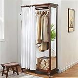 Bodenspiegel LEI ZE JUN UK- Innen-Ganzkörper Ausgangsmobilspeicherspiegel-einfacher Kleiderschrank-festes Holz-Kleiderständer (Farbe : Brass(2))