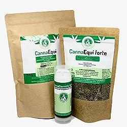 CannaAnimalis - kleines Fellwechselpaket aus 100% biologisch angebauten Hanf für Hunde, Pferde und Katzen, Barf Ergänzung, Futter-Hanf-Öl, 150ml Bio Hanföl, 500g Bio Hanfschrot, 250g Bio Hanfschrot + Bio Hanfblätter