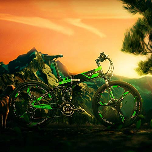 RICH BIT Bicicleta de Montaña Eléctrica, Unisex Adulto, Urbana EBIKE-26