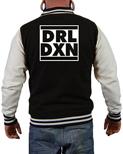 DRL DXN Daryl Dixon Jacke Schwarz/Weiß